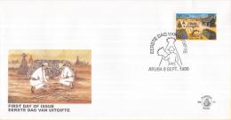 Aruba - FDC77 - Wereldzegel - NVPH E77 - Curaçao, Nederlandse Antillen, Aruba