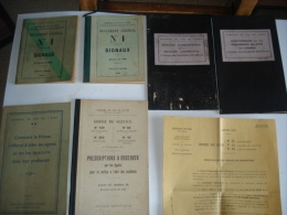 """Lot De Divers Livret Et Documents Sncf 1910,1936,1937 """" Chemins De Fer De L'etat """" Voir Details - Chemin De Fer & Tramway"""