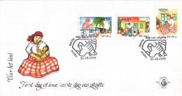 Aruba - FDC84 - Kinderzegels - Visser Met Net/Man Leest Voor/Vrouw Met Kind - NVPH E84 - Curaçao, Nederlandse Antillen, Aruba