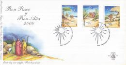 Aruba - FDC85 - Kerstzegels - 3 Wijzen Met Kamelen/4 Herders En Cactussen/Maria, Jozef En Kind - NVPH E85 - Curaçao, Nederlandse Antillen, Aruba