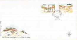 Aruba - FDC90 - Solidariteitszegels - Jongen Aan Ringen/Spelen In Zand - NVPH E90 - Curaçao, Nederlandse Antillen, Aruba