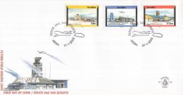 Aruba - FDC98 - Luchthavenzegels - Luchthaven 1950/Luchthaven 1972/Luchthaven 2000 - NVPH E98 - Curaçao, Nederlandse Antillen, Aruba