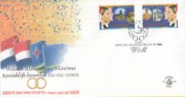 Aruba - FDC99 - Koninklijk Huwelijk - W.A. En Maxima, Paleis, Gouden Koets/Beurs Van Berlage, Nieuwe Kerk - NVPH E99 - Curaçao, Nederlandse Antillen, Aruba