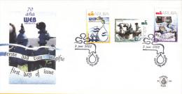 Aruba - FDC100 - 70 JaarWater- En Energiebedrijf - Kraan Met Druppel/Waterleidingstelsel/Watermeter - NVPH E100 - Curaçao, Nederlandse Antillen, Aruba