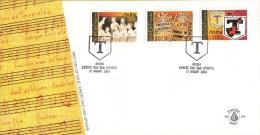 Aruba - FDCE105 -  50 Jaar De Trupialen - Jongenskoor/Poppentheater/Emblemen - NVPH E105 - Curaçao, Nederlandse Antillen, Aruba