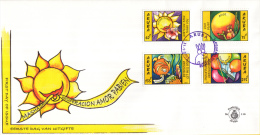 Aruba - FDCE116 - Wenszegels - Dank/Liefde/Beterschap/Felicitatie - NVPH E116 - Curaçao, Nederlandse Antillen, Aruba