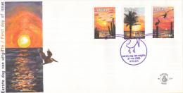 Aruba - FDCE119 - Zonsondergang - Met Cactussen/met Palmboom/metpelikanen - NVPH E119 - Curacao, Netherlands Antilles, Aruba