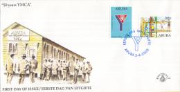 Aruba - FDCE124 - 50 Jaar YMCY - NVPH E124 - Curaçao, Nederlandse Antillen, Aruba