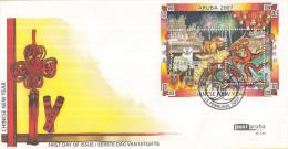 Aruba FDCE129 - Blok Chinees Nieuwjaar: Jaar Van Het Varken -  Varken/Chinese Draak - NVPH E129 - Curaçao, Nederlandse Antillen, Aruba
