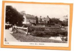 Castle Mill Dorking 1912 Real Photo Postcard - Surrey