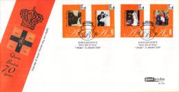 Aruba FDCE135 - 70e Verjaardag Van Koningin Beatrix - Beatrix Als Kind/met W.A. Als Baby/Inhuldiging/W.A. - NVPH E135 - Curaçao, Nederlandse Antillen, Aruba