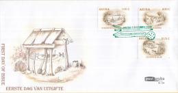 Aruba - FDCE142 - Aruba In Het Verleden - Suministro Antes Di Awa/Cas Di Antes/Cultivo Di Aloë - NVPH E142 - Curaçao, Nederlandse Antillen, Aruba