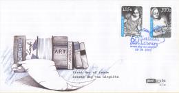 Aruba - FDCE148 - 60 Jaar Nationale Bibliotheek - Lezend Meisje/Lezende Vrouw - NVPH E148 - Curaçao, Nederlandse Antillen, Aruba