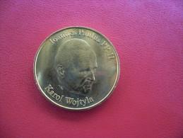 MEDAILLE De Collection PAPE Jean Paul II - Karol Wojtyla à Lourdes @ PELERIN - 31 Mm - National Token France - Tourist
