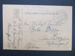 Feldkorrespondenzkarte Feldpost Feldpostamt Nr. 267 1917  ///  D*16672 - 1850-1918 Imperium
