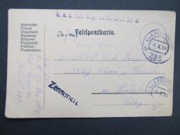 Feldkorrespondenzkarte Feldpost Feldpostamt Nr. 293  ///  D*16673 - 1850-1918 Imperium