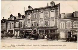 Hôtel Du Soleil D'Or - Gaillon - P. Turgis, Correspondant Des Chemins De Fer ( Diligence ) - France