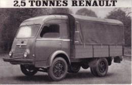 AUTOMOBILES  - PUBLICITE - DEPLIANT 2 VOLETS - UTILITAIRE , CAMIONNETTE , CAR , PLATEAU - RENAULT 2,5 TONNES - Voitures