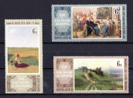 Russia 1980 Artists Anniversaries Set Of 3 MNH - Hungary