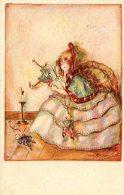 [DC4610] CARTOLINA - ERNA MAISON KURT - ART NOUVEAU - BAMBINA CON MARIONETTE - Viaggiata 1928 - Old Postcard - Illustrators & Photographers