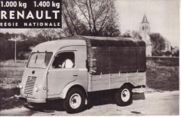 AUTOMOBILES  - PUBLICITE - DEPLIANT 2 VOLETS - UTILITAIRE , CAMIONNETTE , CAMION LEGER  - RENAULT 1000 KG , 1400 KG - Voitures