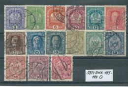 SATZ ANK. 185 - 199 Gestempelt Siehe Scan - Used Stamps