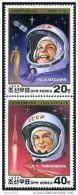 Korea 1988, SC #2796a-b, Space Cosmonauts - Asia