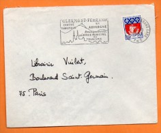 63 CLERMONT FERRAND  EN AUVERGNE  21 / 10 / 1967 Lettre Entière N° J 331 - Postmark Collection (Covers)