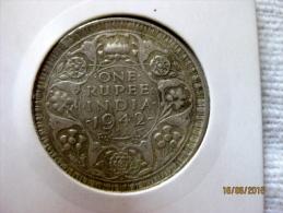 British India 1 Rupee 1942 - Inde