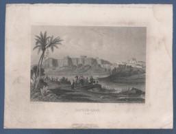 GRAVURE ANCIENNE HAYDER-ABAD ( SINDHI ) - INDE - DUREAU DEL ET SCULPt / IMP GILQUIN ET DUPAIN R. DE LA CALANDRE 19 PARIS - Prints & Engravings