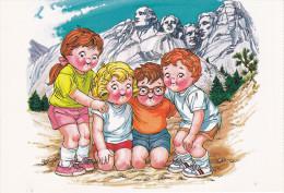 ADV: Campbell Soups Kids At Mount Rushmore , South Dakota , 60-70s - Mount Rushmore