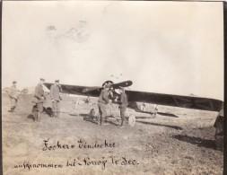 Photo 14-18 NORROY-LE-SEC (près Briey) - Un Avion Allemand Fokker E.III (Focker) , Aviation (A107, Ww1, Wk 1) - France