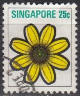 Singapore, 1973 - 25c Yellow Daisy - Nr.194 Usato° - Singapore (1959-...)