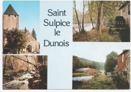 CPM SAINT SULPICE LE DUNOIS Multivues, L'église, Le Moulin De Châtelus, Le Gouffre, Le Moulin De La Barde - Andere Gemeenten