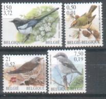 Belgien Belgie Belgium  2001 4x Birds Vögel - Belgique
