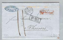 Russland 1860-03-08 Königsberg Kalingrad Brief>Reims FR - 1857-1916 Empire