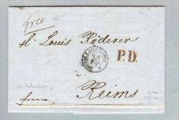 Russland 1859-07-18 St.Petersburg Brief>Reims Champ.Fr - Briefe U. Dokumente