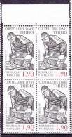N° 2467 Série  Métier De L´Art: La Couutellerie Thiers: Bloc De 4 Timbres Neuf - Ungebraucht