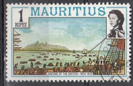 Mauritius, 1978 - 1r Landing Of The British - Nr.454 Usato° - Mauritius (1968-...)