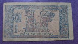 North Vietnam Viet Nam 50 Dong EF+ Banknote 1951 - P#35 / 02 Images - Vietnam
