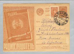 Russland 1930-11-08 Bild-Ganzsache Nach Thalwil CH - 1857-1916 Imperium