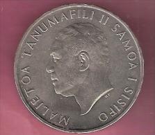 SAMOA TALA 1967 UNC HEAD MALIETOA TANUMAFILI II - EDGE DECIMAL CURRENCY INTRODUCED