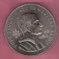 SAMOA TALA 1970 UNC VISIT POPE PAUL VI