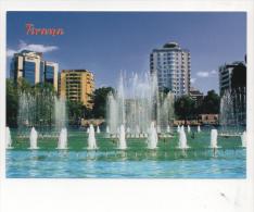 Car1350 Tirana Albania Hotel Grattacieli Palazzi Moderni Fontana Fountain Skyscraper