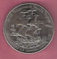 SAMOA TALA 1972 UNC ROGGEVEENS PACIFIC VOYAGE