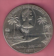 SAMOA TALA 1977 UNC QUEENS SILVER JUBILEE