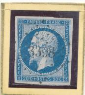 N°14 LOSANGE PETITS CHIFFRES BELLE FRAPPE + NUANCE. - 1853-1860 Napoléon III.