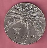 SAMOA TALA 1980 UNC FAO COCONUT PALM TREE