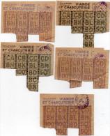 Coupons De Rationnement  1946 -  Viande Et Charcuterie -  Lyon 4e - Historical Documents