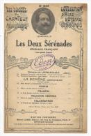 Partition Musicale, Les Deux Sérénades, Leoncavallo, Ed : Choudens, Frais Fr : 1.60€ - Partitions Musicales Anciennes